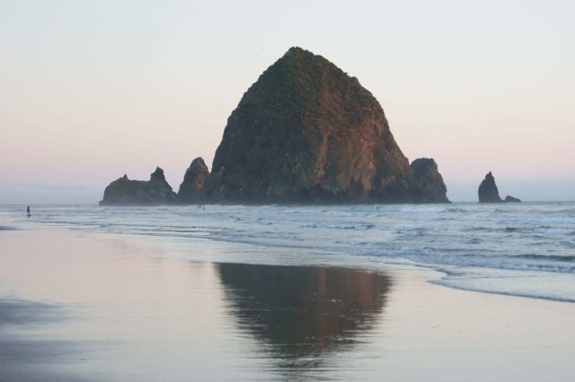 Haystack Rock Classic Reflection