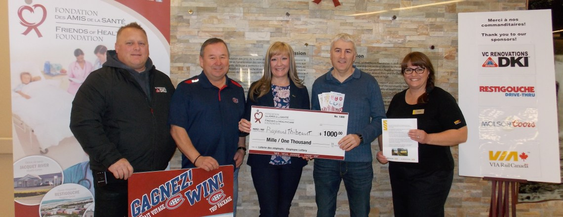 One lucky winner and $7,600 for healthcare in the Restigouche!
