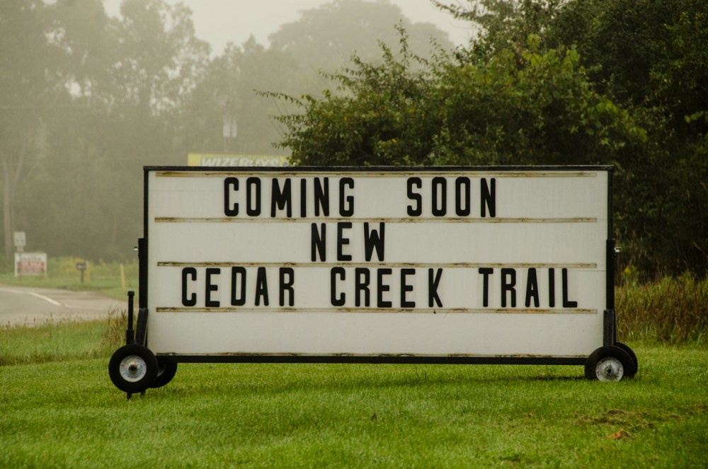New Cedar Creek Trail at Highland State Recreation Area is Nearing Completion (1/6)
