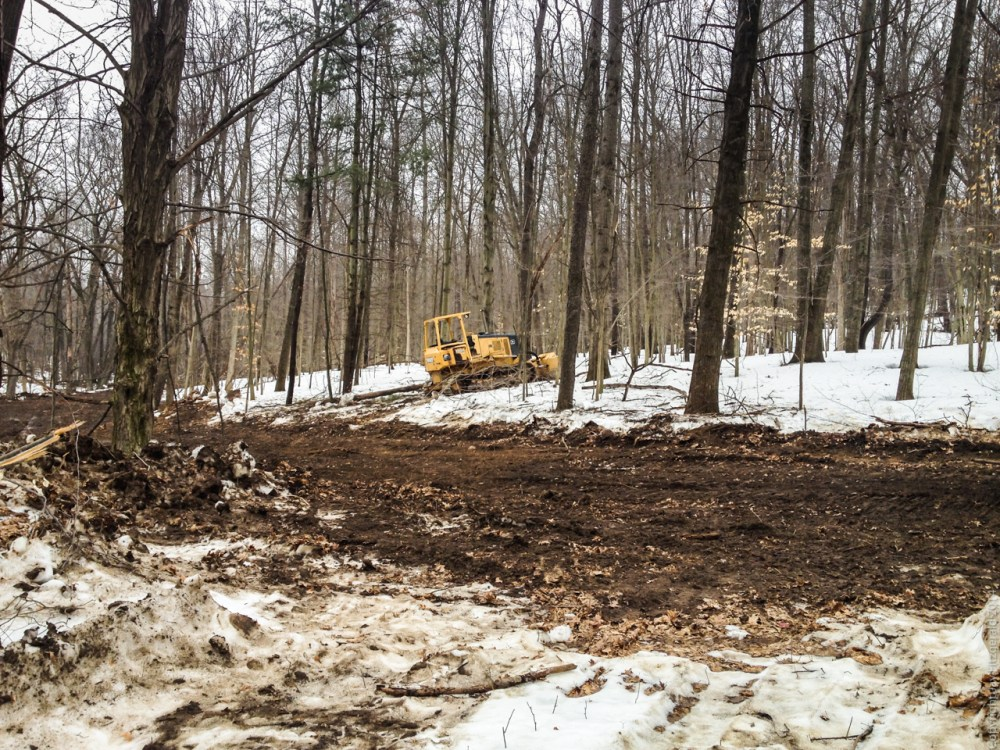 New Cedar Creek Trail at Highland State Recreation Area is Nearing Completion (4/6)