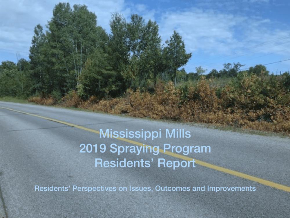 Mississippi Mills 2019 Spraying Program Residents' Report
