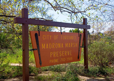 Madrona Marsh Preserve sign