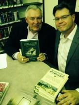 Les with FOMLL President Wayne Finley