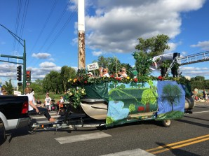 Our float in action