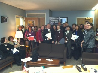 Library Advocates Meet with Assemblyman James Tedisco