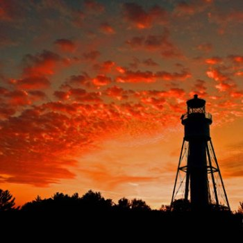 Michigan Island Lighthouse at Sunset-Print of the Year 2014