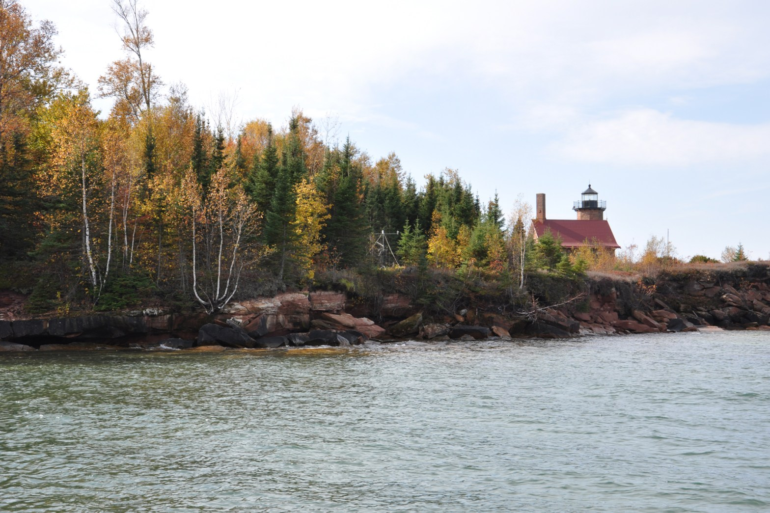 Fall Colors and the Sand Island Light