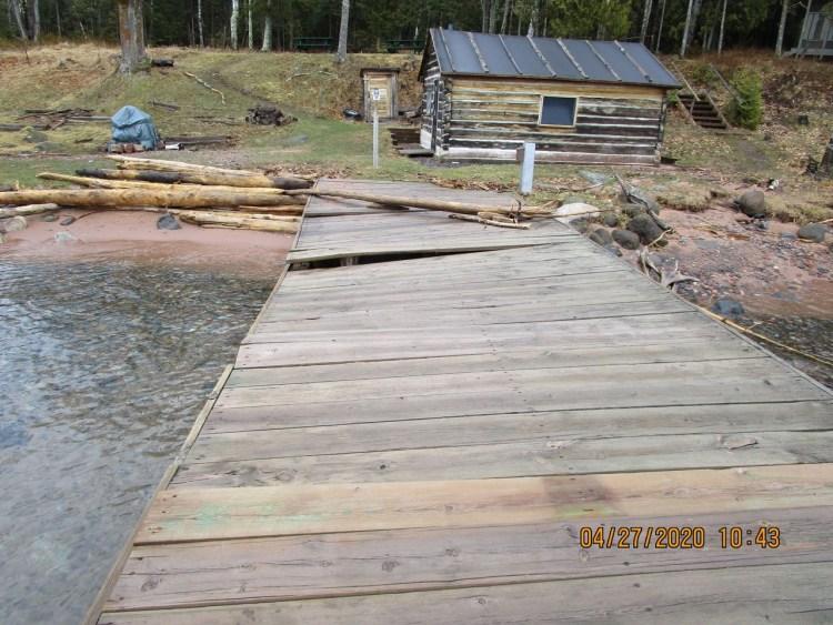 Manitou Island Dock Damage