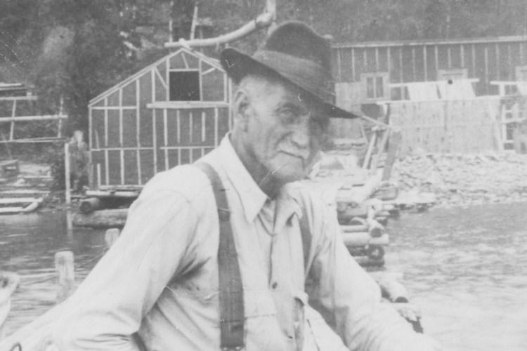 Fisherman John Fried at Bear Island fish camp