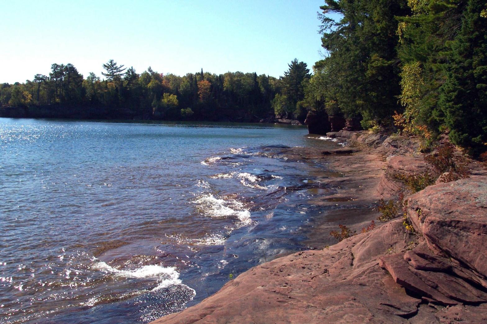 Bear Island shoreline