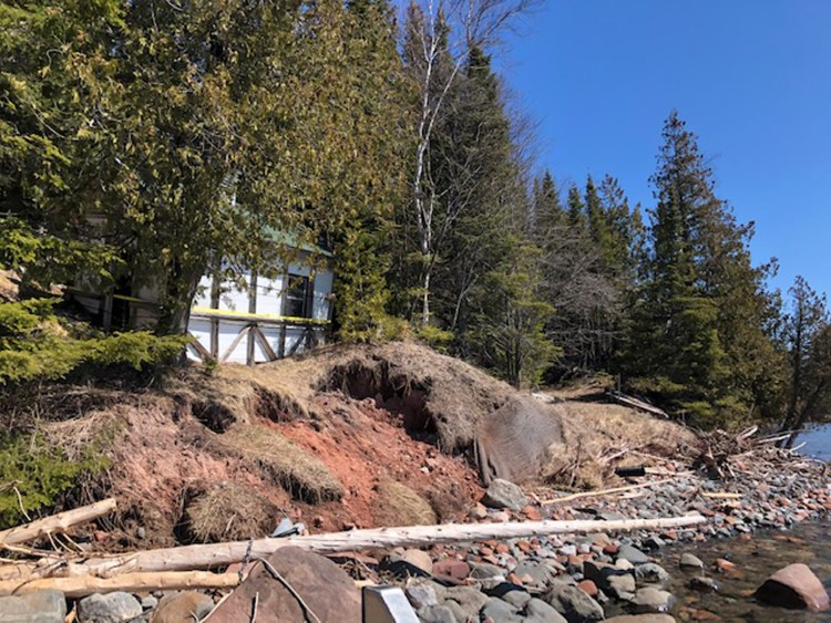 Collapsed shoreline, May 2020