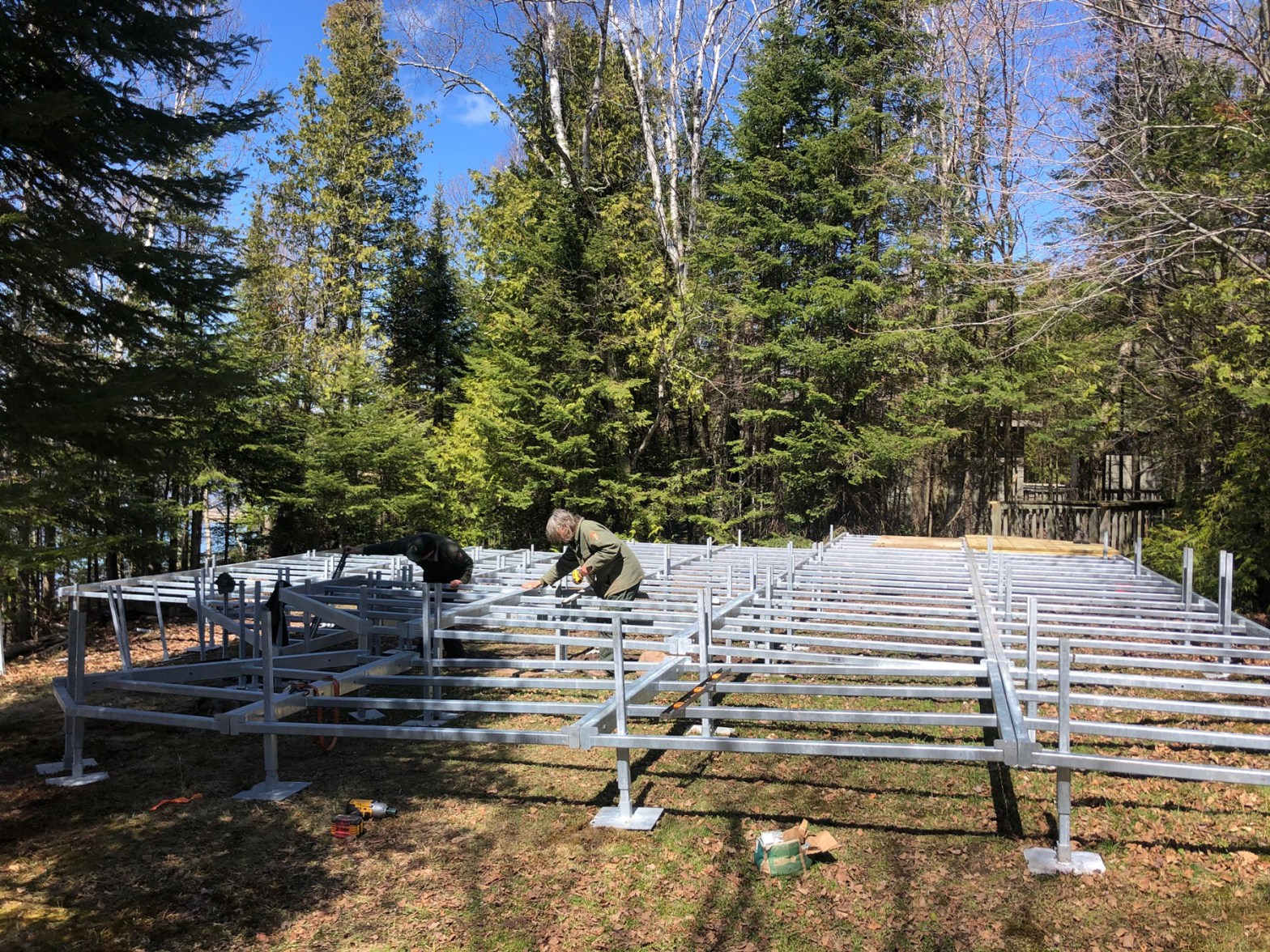 Amphitheater under construction