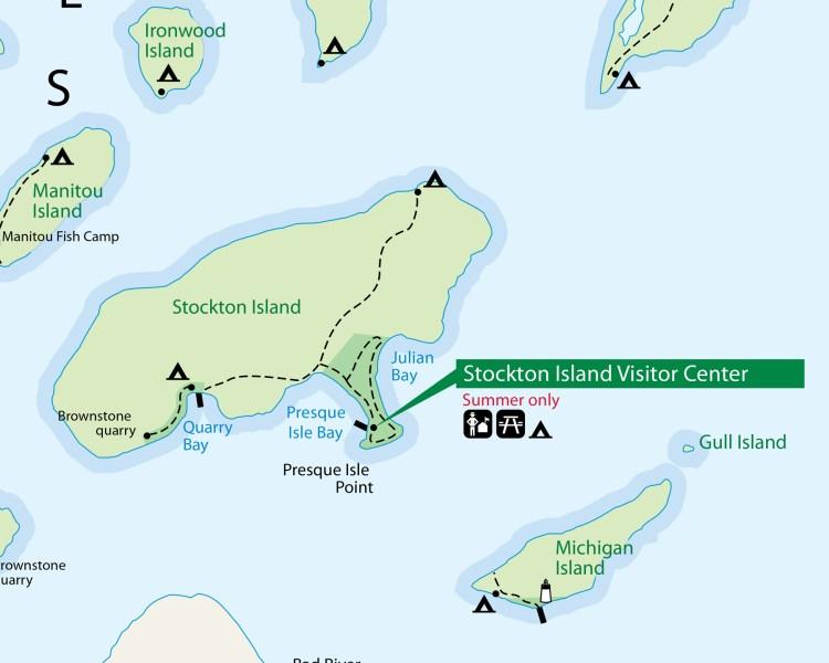 Stockton Island Map