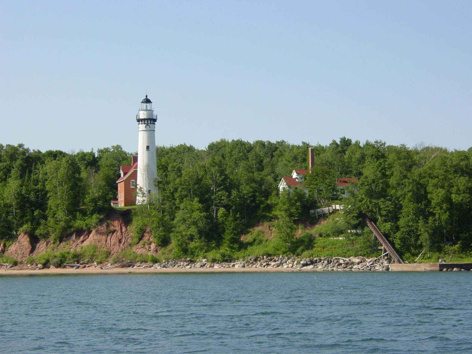 Outer Island Light from the water