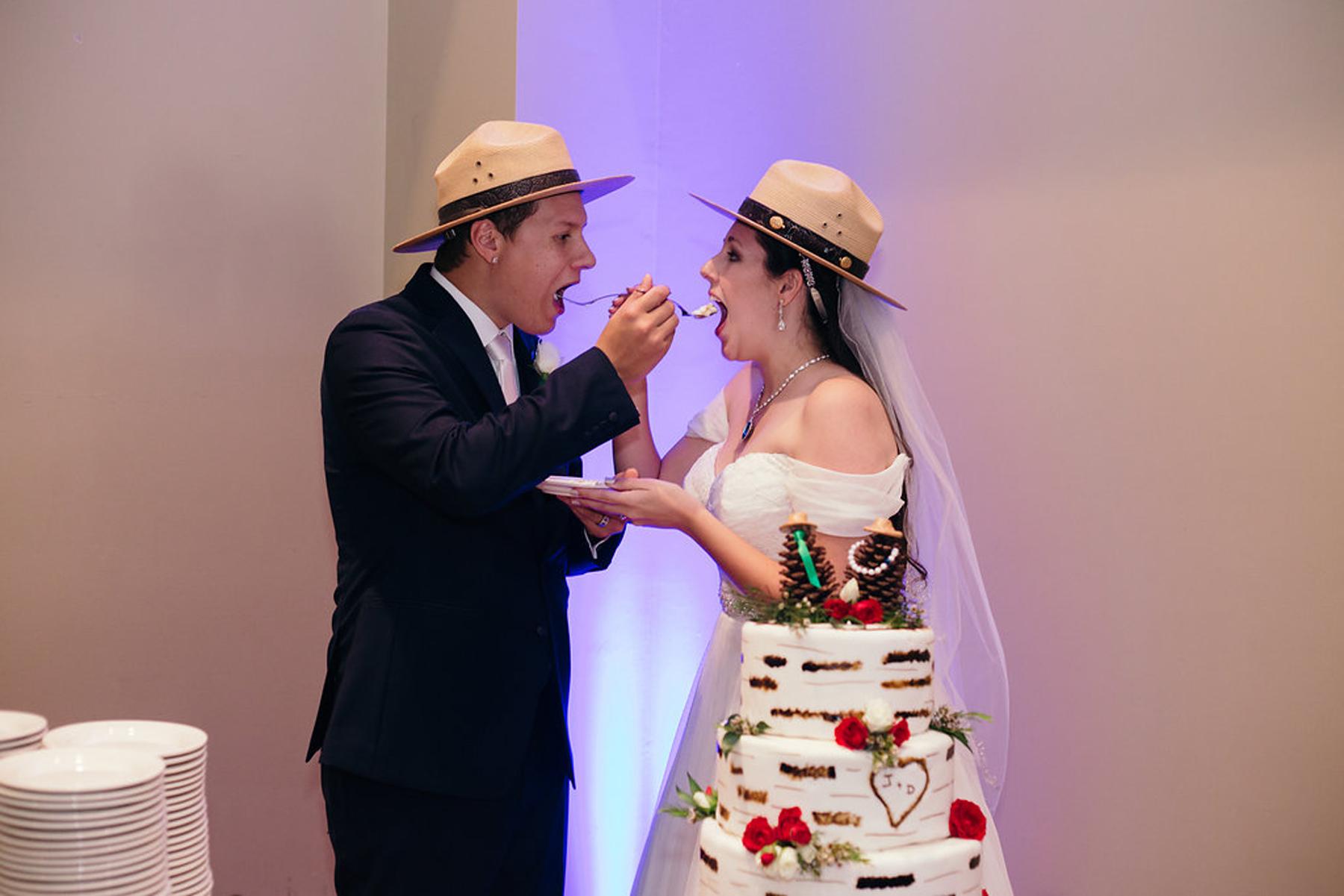 David Grooms and Jennie Nepstad on their wedding day