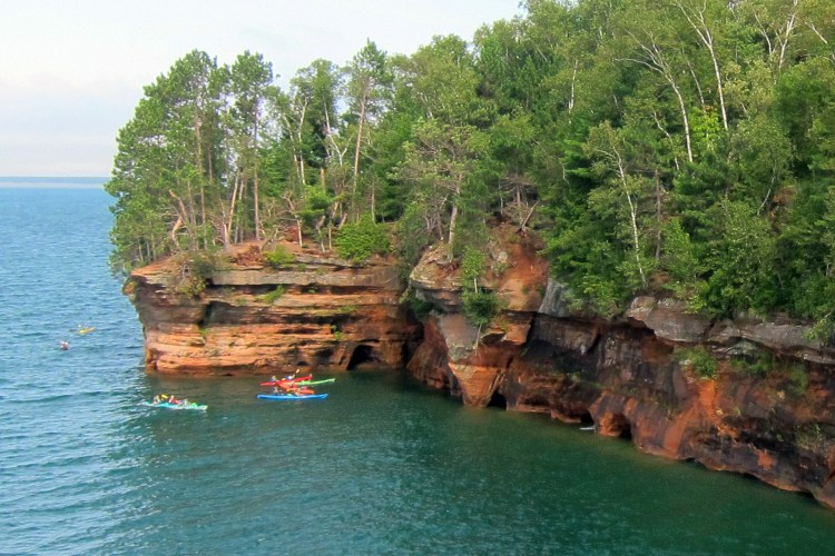 Paddling the mainland sea caves