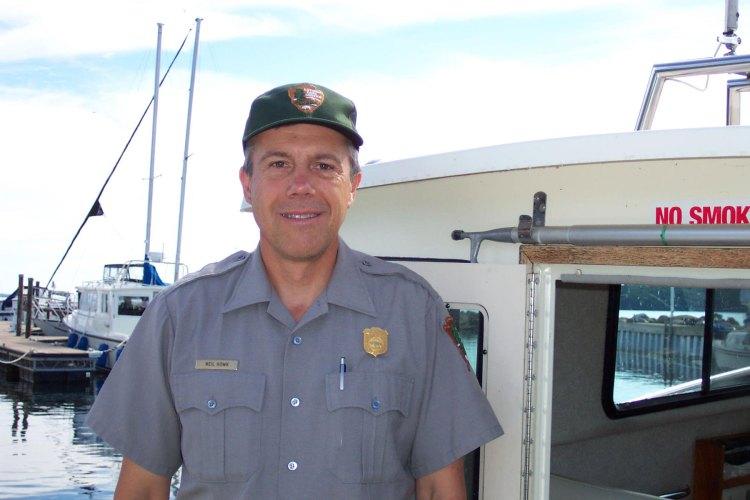 Neil on board the NPS Merlin