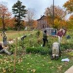 Volunteers tend Gaylord Nelson Garden