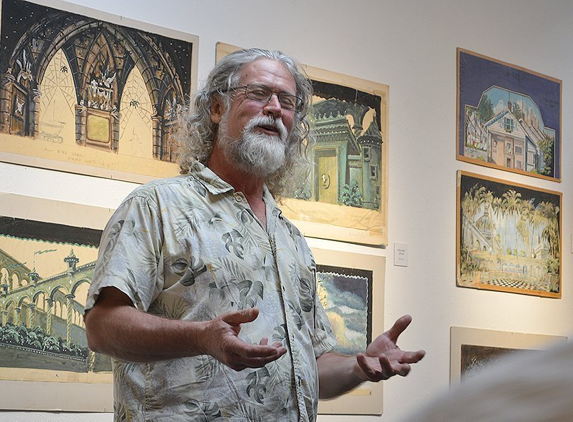 John Wolf, son of Peter Wolf, gives a gallery talk about his Father
