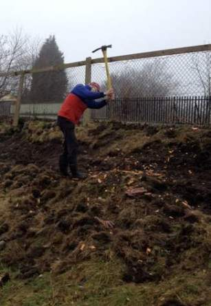 Clearing the ground