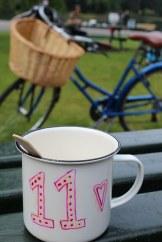 Mug and bicycle
