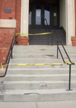 Courthouse staircase before