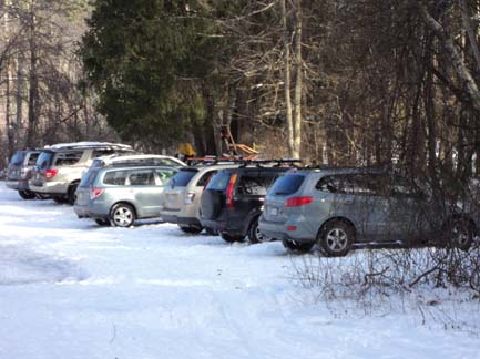 Trailhead parking lot