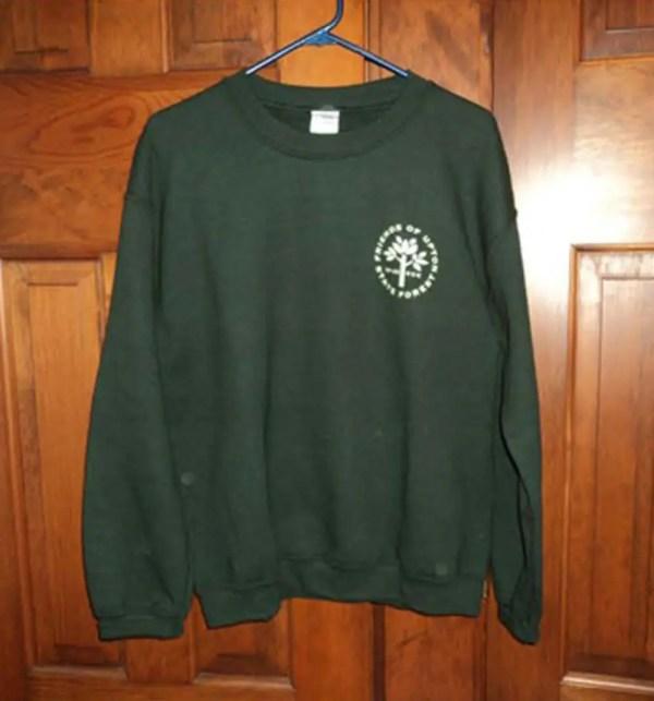 Friends of Upton State Forest Green sweatshirt