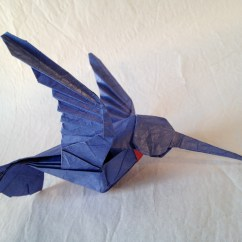 Origami Hummingbird Diagram Instructions Wolf Parts Ruby Throated  Friesen Folding