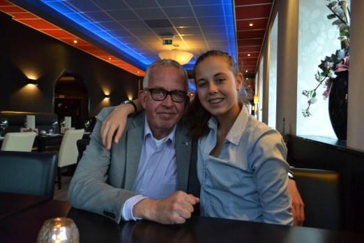 Trotse vader met prachtige dochter