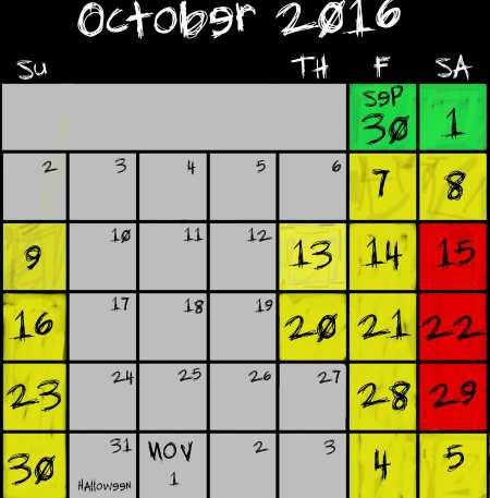 Frightland schedule 2016 hours schedule & calendar