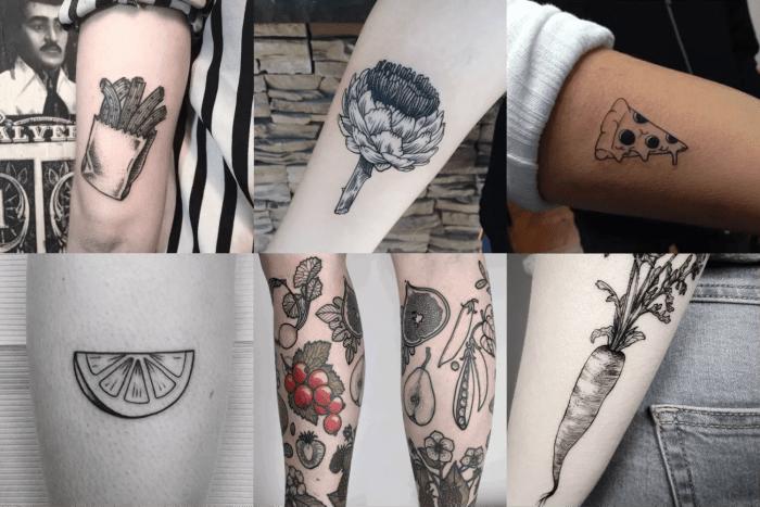 Tatuagens com temática de comida para quem gosta de gastronomia.