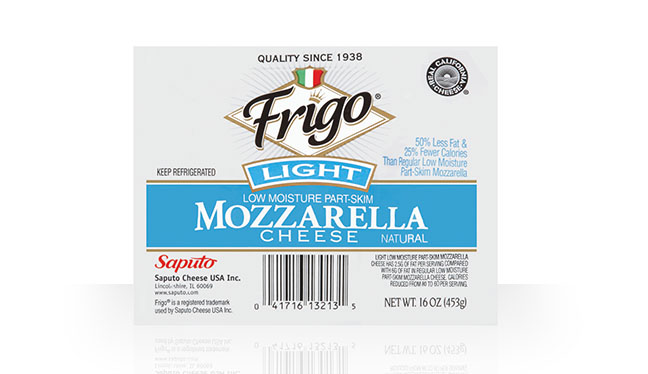 Light Mozzarella Cheese  Frigo Cheese