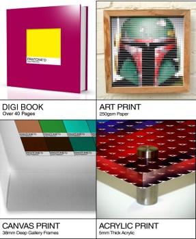 Book, print, canvas or acrylic