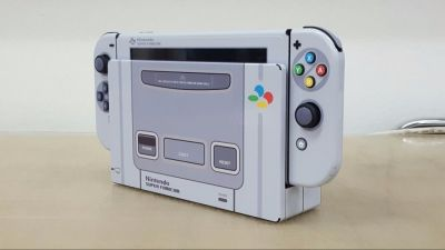 gamer-personaliza-nintendo-switch-una-super-nintendo-frikigamers.com