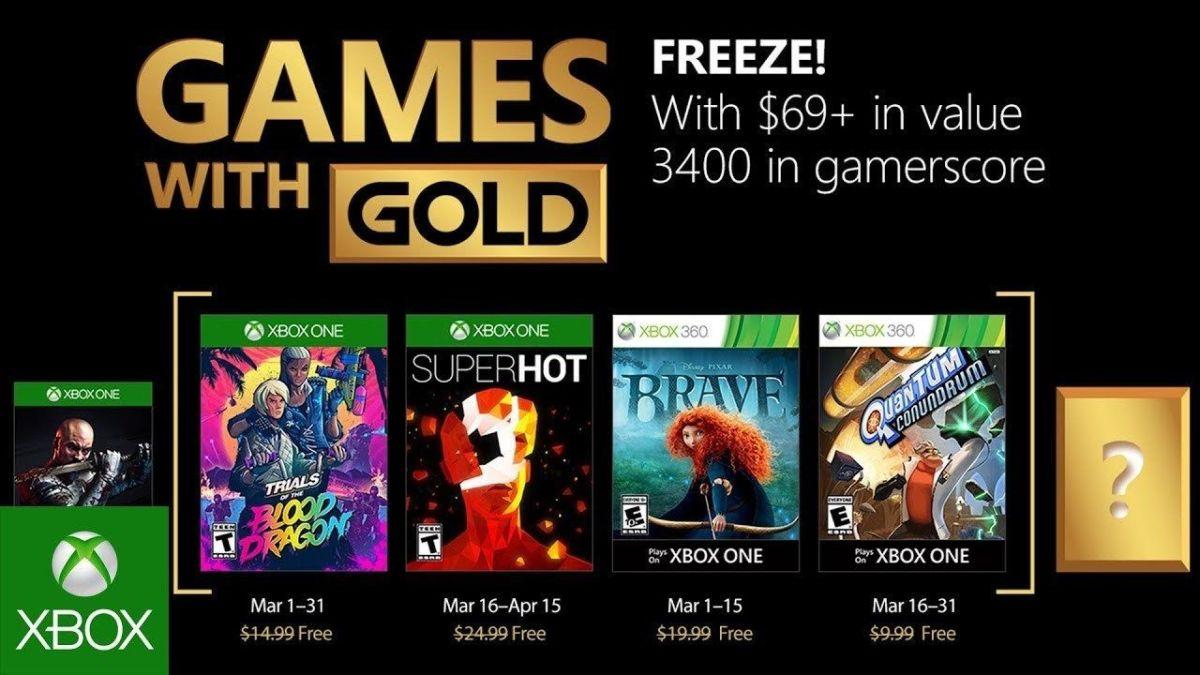 Chequea los Juegos con Gold de Xbox Live de marzo