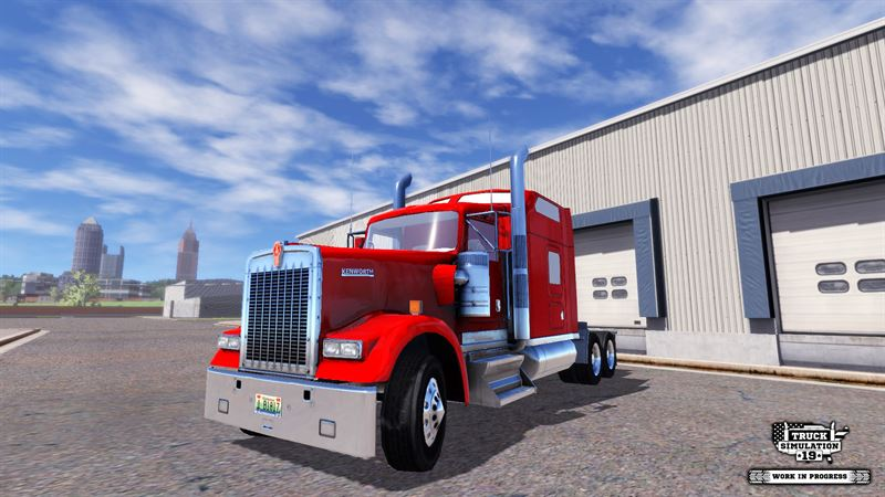 Truck Simulation 19 include trucks by famous US brand Kenworth