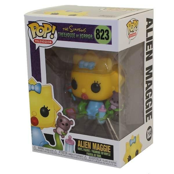 Una alienígena Maggie que no deja sus juguetes ni así. Alien Maggie Funko Nº 823 de la serie The Simpsons: Treehouse of Horror