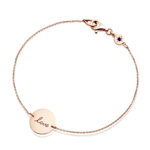 Astley Clarke Rose Gold Love disc Bracelet
