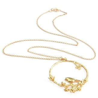 Alex Monroe Flowery Bird Loop Necklace