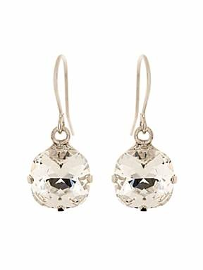 Martine Wester Cushion cut drop earrings