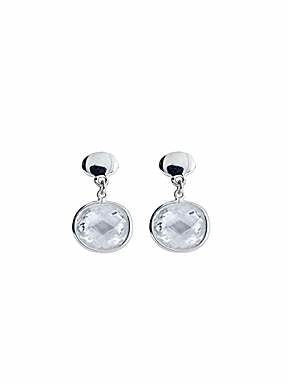 Azendi Sterling Silver Cubic Zirconia small drop earrings