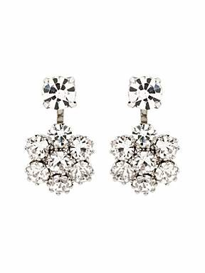 Martine Wester Small flower crystal earrings