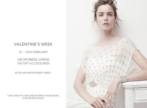 Jenny Packham Valentine's offer