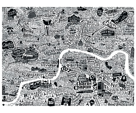 Film London map art print by Run for the Hills and Dex - £90