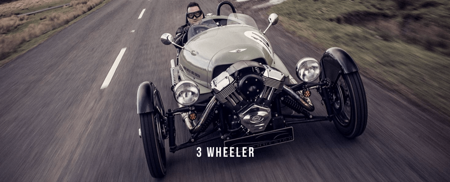 Hire 3 or 4 wheelers from Morgan for a day for £190 or go on a Morgan factory tour for just £15