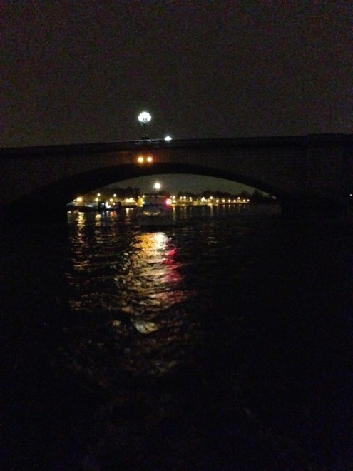 Passing under Putney Bridge.