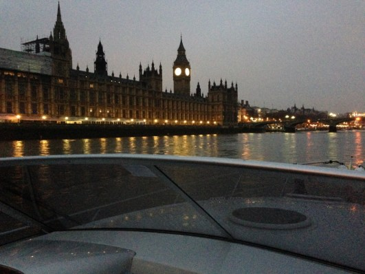 Passing the Houses of Parliament at 6am.