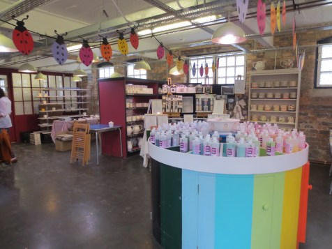 First you choose your pottery, stamps and colours from this area.