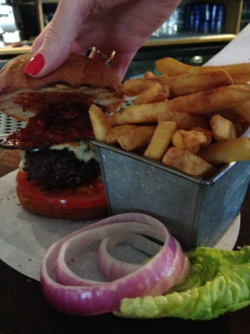 The Riding House cafe burger